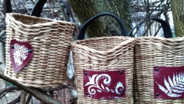 Набор плетёных корзинок