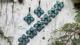 Комплект серьги и браслет ′ Айсберг′