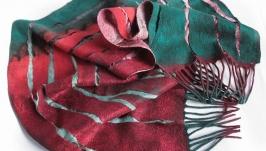 Валяний шарф ПАЛІТРА МАКОВОГО СНУ
