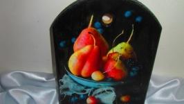 Сервировочная, сырная доска ′Дюшес′, декор для кухни,полезный подарок.