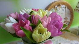 Тюльпаны. Букет ручной работы.