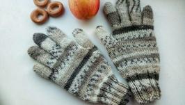 Перчатки с жаккадовым узором ′Норвегия′