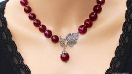 Намисто ′Гілка винограду′ червоне