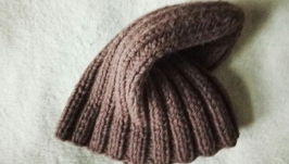 Мужская шапка бини , шапка с отворотом