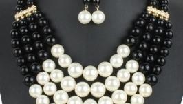 Намисто ′Чарівні перли′ (в різних кольорах)