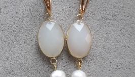 Жемчужные серьги, Серьги из натурального жемчуга, жемчуг, перли, свадьба