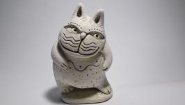 Статуэтка керамическая ручной работы. Кот.