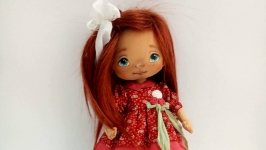 valentine′s day gift Textile doll Interior doll OOAK art doll Holiday gift