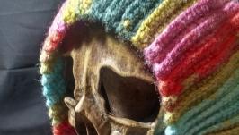 Набор шапка и шарф связаные крючком