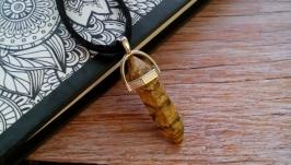 Кулон-кристалл, подвеска из натурального камня яшма