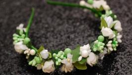 Нежный обруч ободок с цветами
