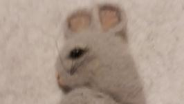 Брошь Мышка серая Сонюшка из шерсти
