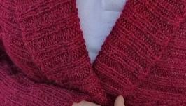 Бордовый кардиган