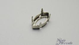 Цапы для риволи ′маркиз′ серебро 5х10 мм