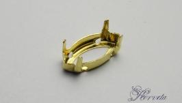 Цапы для риволи ′маркиз′ золото 6х12 мм