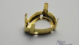 Цап для риволи ′капля′ золото 10х14 мм