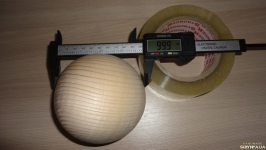 Сосна. Шар деревянный 10 см
