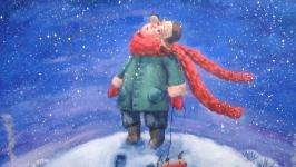 Картина ′Зимняя прогулка′