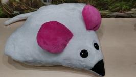 Подушка-игрушка ′Белая мышка′