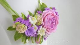 Украшения из полимерной глины. ′Цветочный вальс′