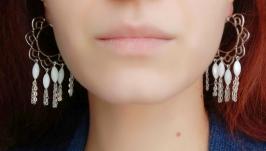 Сережки ′Білі лотоси′