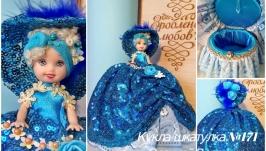 под заказ №171 кукла шкатулка подарок для прикрас или купюрница
