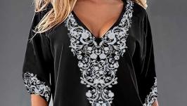 Блуза вышитая женская