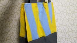 Эко-сумка, шоппер ручной работы из плотного хлопка.