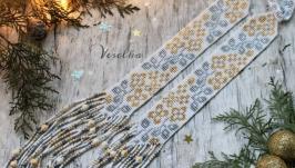 Гердан ′Жасмин′ серебристо-золотой