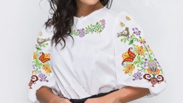 Блуза вышитая женская - Весенняя