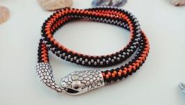 Оранжево серый Жгут Змейка