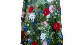Платье вязаное ′Маковое поле′