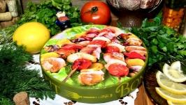 Кухонна дошка «Улюблений шашлик»