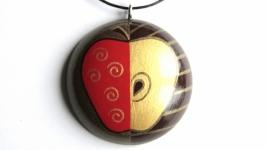 Кулон  ′Яблоко′ с ручной росписью