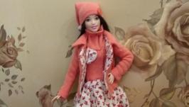 Одежда для Барби ′Коралловый комплект′