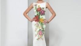 Платье вышитое свадебное