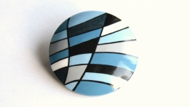 Брошь ′Синева′ с ручной росписью