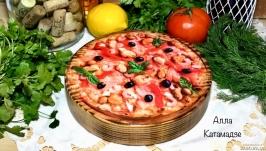 Кухонна дошка «Піца з морепродуктами»