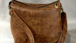 кожаная сумка crazy brown horse