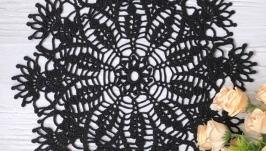 Салфетка хлопковая черная