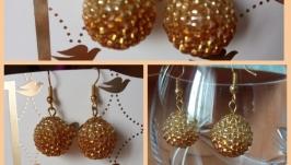 Серьги ′золотой песок′