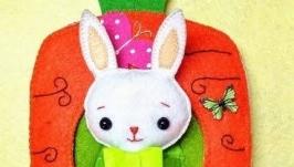 Книжка из фетра ′Домик для Заюшки′