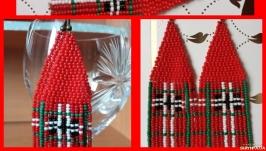 Серьги ′бербери красные′