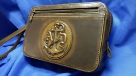 Кожаная сумка ′ЯКОРЬ′ с инициалами