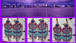 Серьги ′фиолетовые цветы′