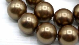 Жемчуг Майорка 16 мм ′Шоколад′
