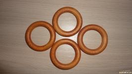 Кольцо деревянное цвет Тик