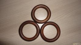 Кольцо деревянное цвет Вишня