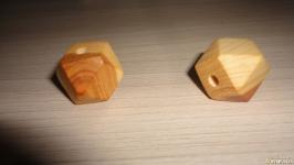 Кулон из можжевельника для рун 20 мм