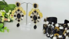Комплект браслет и серьги  в стиле DG Барокко